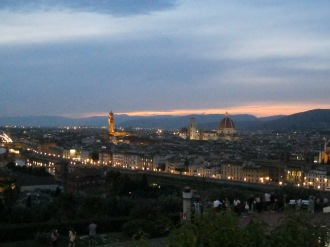 Sunset gazing from Piazzale Michelangelo